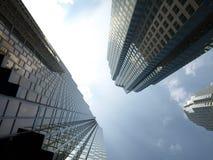 De lange Moderne Gebouwen van de Stad Stock Fotografie