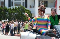 De lange Parade 2012 van de Trots van het Strand Lesbische en Vrolijke Royalty-vrije Stock Foto's