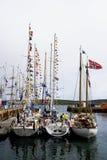 De lange Schepen rennen 2011 Lerwick stock afbeelding