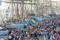 De lange Schepenrassen Riga 2013 Stock Afbeeldingen
