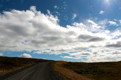 De lange weg in IJsland Royalty-vrije Stock Fotografie