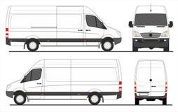 De lange wielbasis van de sprinterbestelwagen Stock Afbeelding