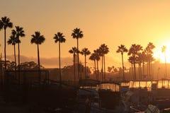 De lange Zonsondergang van het Strand Royalty-vrije Stock Foto