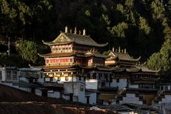 De Langmu-Tempel stock fotografie