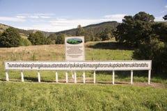 De langste plaatsnaam in Nieuw Zeeland Royalty-vrije Stock Foto's