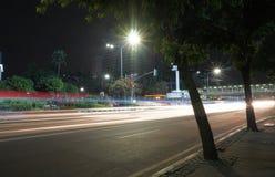 De langzame straat van de blind lichte strook royalty-vrije stock afbeeldingen