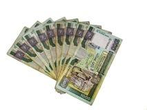 De lankan Roepies van Sri Stock Afbeelding