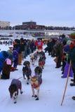 De lans Mackey begint met de Zoektocht Yukon Royalty-vrije Stock Afbeelding