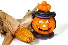 De Lantaarn en het Graan van Halloween stock afbeelding