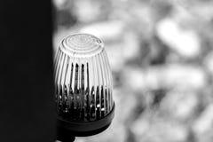De lantaarn op de waarschuwing van het poort automatische gevaar royalty-vrije stock foto's