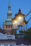 De lantaarn Praag van het gas royalty-vrije stock foto