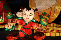 De lantaarn toont in chengdu, China Royalty-vrije Stock Foto