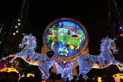 De lantaarn toont in zigong, China in 2014 Royalty-vrije Stock Foto's