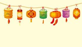 De lantaarn van de medio-herfst Royalty-vrije Stock Afbeeldingen