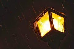 De lantaarn van de nachtwinter Stock Foto