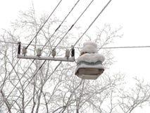 De lantaarn van de sneeuw Stock Afbeeldingen