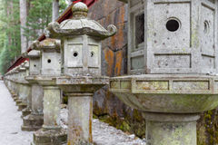 De lantaarn van de steenpijler Royalty-vrije Stock Foto's