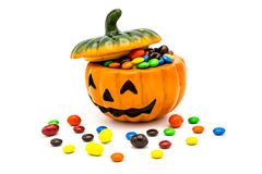 De lantaarn van Halloween Jack o Stock Foto's