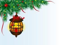 De lantaarn van Kerstmis Stock Foto's