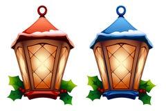 De lantaarn van Kerstmis Royalty-vrije Illustratie