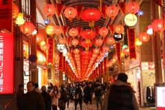 De lantaarnfestival van Nagasaki Royalty-vrije Stock Afbeeldingen