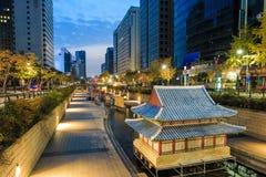 De Lantaarnfestival 2014 van Seoel bij Cheonggye-stroom Royalty-vrije Stock Afbeelding