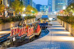 De Lantaarnfestival 2014 van Seoel bij Cheonggye-stroom Royalty-vrije Stock Foto