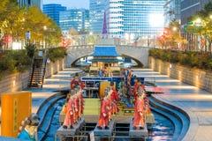 De Lantaarnfestival 2014 van Seoel bij Cheonggye-stroom Royalty-vrije Stock Fotografie