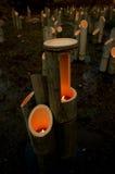 De Lichten van het bamboe Stock Afbeeldingen