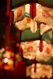 De lantaarns van het document in de Tempel van Hau van het Tin Stock Afbeeldingen