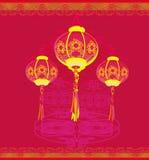 De lantaarns zullen goed geluk brengen Royalty-vrije Stock Foto's