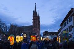 De lantaarntentoonstelling van Bazel Carnaval 2017 stock afbeeldingen