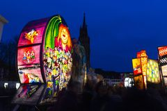 De lantaarntentoonstelling van Bazel Carnaval 2019 royalty-vrije stock foto
