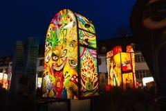 De lantaarntentoonstelling van Bazel Carnaval 2019 stock afbeelding