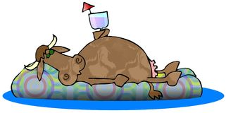 De Lanterfanter van de koe Royalty-vrije Stock Afbeelding