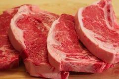 De lapjes vlees van de strook Stock Fotografie