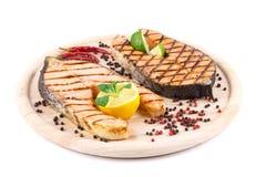 De lapjes vlees van de zalm Royalty-vrije Stock Foto