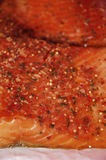De Lapjes vlees van de zalm stock foto