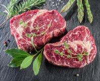 De lapjes vlees van het riboog met kruiden Royalty-vrije Stock Afbeelding