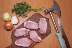 De lapjes vlees van het vlees Stock Foto's