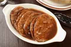 De lapjes vlees van Salisbury stock foto