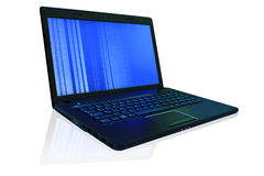 De laptop lopende computer. royalty-vrije stock foto
