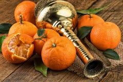 De las mandarinas todavía de Oriental vida Foto de archivo