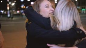 De las muchachas de la noche luz de la ciudad de la calle de la ocasión especial hacia fuera metrajes