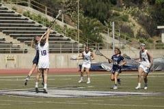 ` 2016 de las mujeres de 03-14 Whittier s LaCrosse 5 Fairleigh Dickerson 18 Foto de archivo