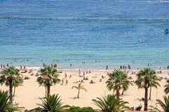 de las playa西班牙tenerife teresitas 图库摄影