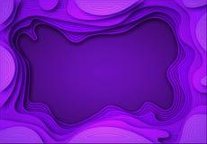 De las sombras violetas de papel con transiciones suaves y líneas oscuras se cortan Lugar para el aviso del anuncio Arte abstract libre illustration