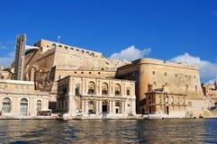 De Lascaris bastion- och UpperBarrakka trädgårdarna i Valletta Royaltyfri Bild