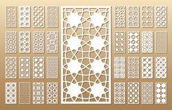 De laser sneed panelen vector illustratie