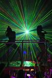 De laser toont bij een nachtclub Royalty-vrije Stock Fotografie